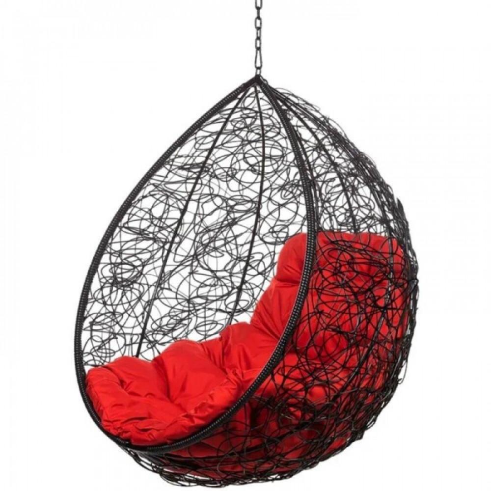 Подвесное кресло Tropica Black BS без стойки (красная подушка)