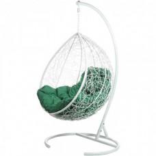 Подвесное кресло Tropica White (зеленая подушка)